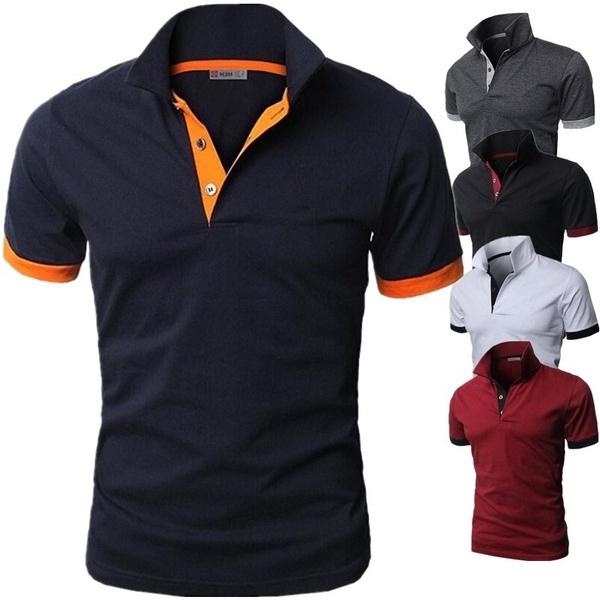 Fashion, Cotton, Polo Shirts, Colorful