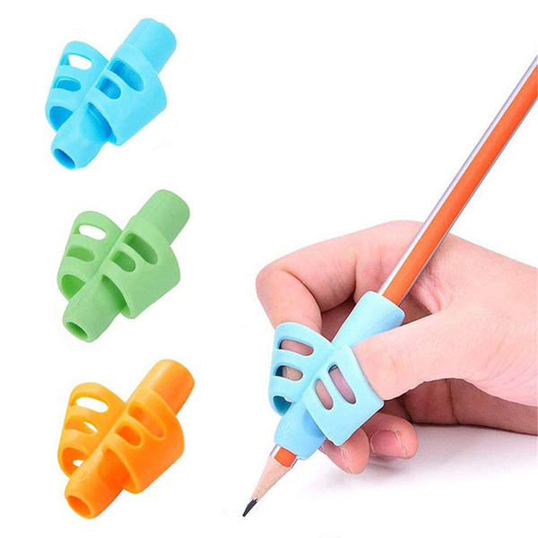 School Supplies Posture Correction Pen Cap Silicone Stationery Children  Writing Control Aid Tool Pencil Holder Pen Grip