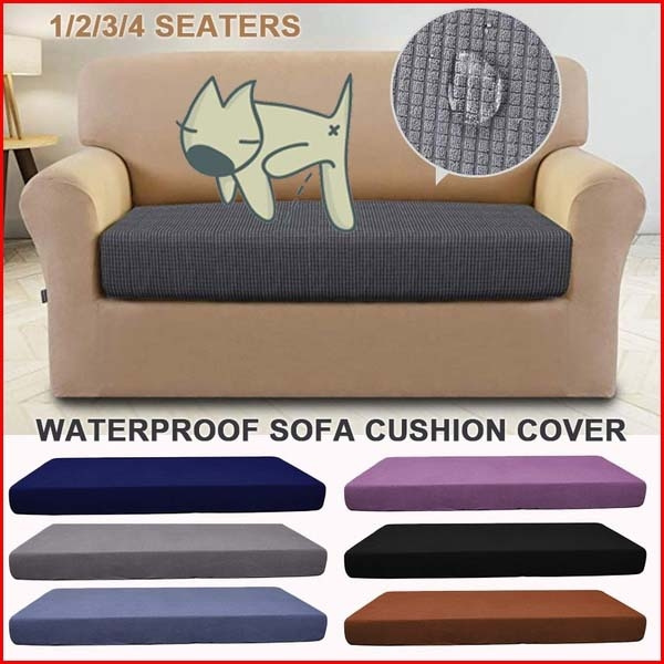 Tremendous Best Selling 1 4 Seat 13 Color Waterproof Sofa Cushion Cover Waterproof Sofa Seat Cover Solid Color Double Sofa Cushion Cover Sofa Cover Short Links Chair Design For Home Short Linksinfo