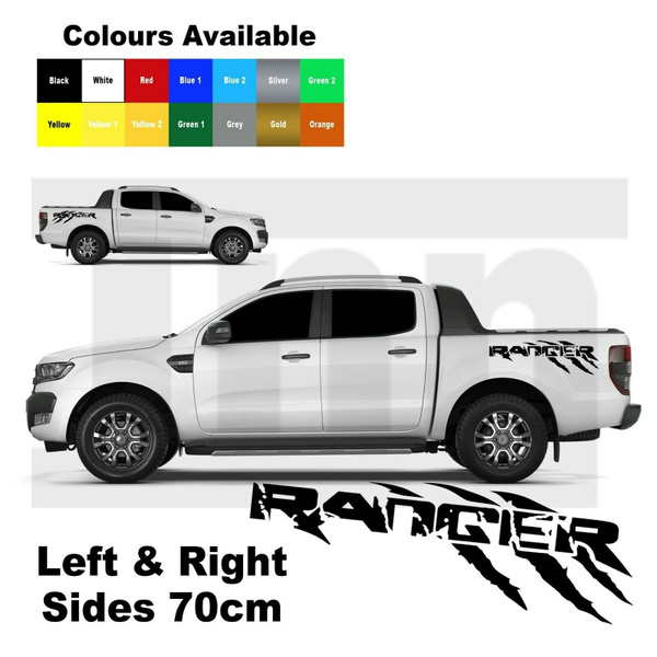 "Ford Ranger 2 x Vinyl Graphics Car Decal Vinyl Sticker 33/"" x 15/"" Many Colours"