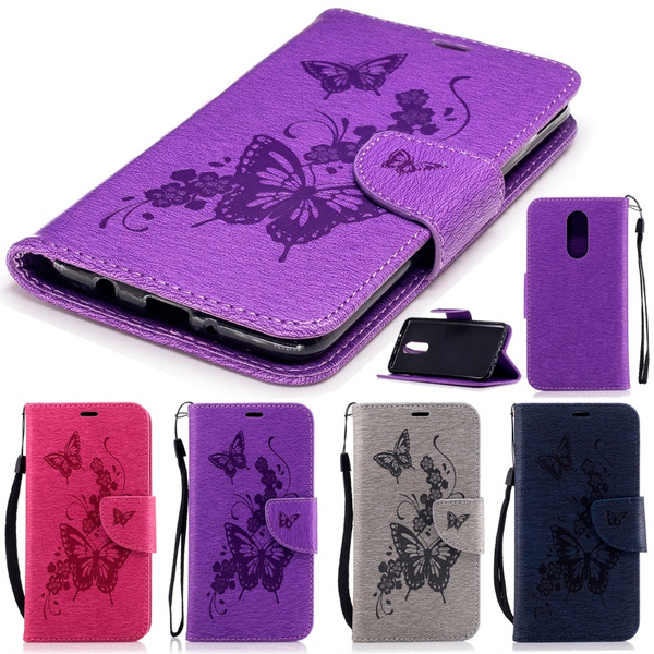 For LG Stylo 5 Case , Butterfly Flower Painted Leather Wallet Case Phone  Pouch Flip Cover for LG Stylo 4 / Stylo 5 / Aristo 3 / Phoenix 4 / Rebel 4