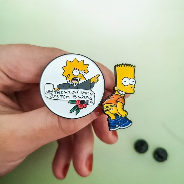 Lisa Simpson The Whole Damn System Is Wrong Enamel Pin Gift Simpsons Feminist