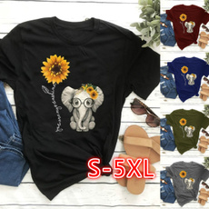 Summer, Plus Size, sunflowergraphicprinted, cute