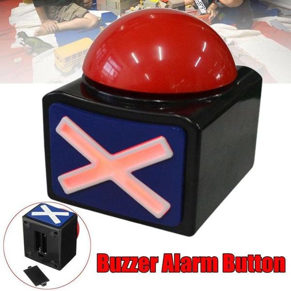 Game Answer Buzzer Alarm Push Button with Sound Light Game Show Sound Lighting E