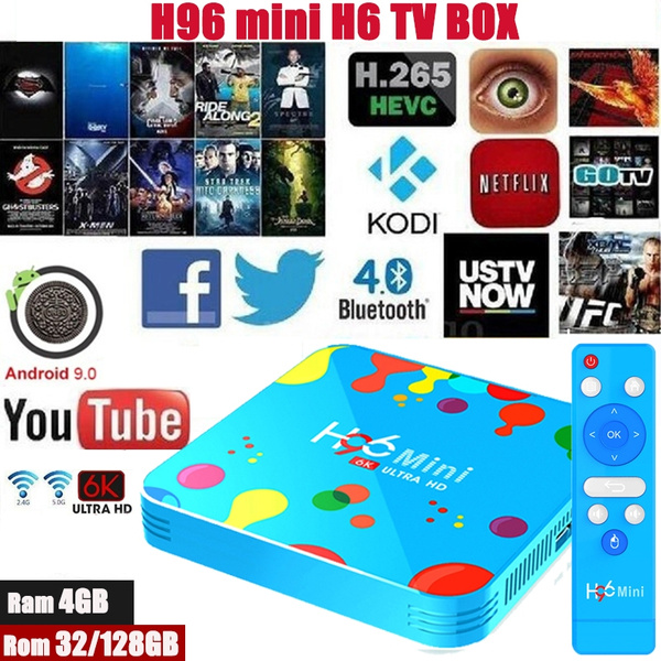 H96 Mini H6 TV Box Android 9 0 Allwinner H6 Quad Core BT4 0 Smart TV Box  WIFI 2 4G/5G 4G 32G / 4G 128G Mini Box HDMI RJ45 USB3 0