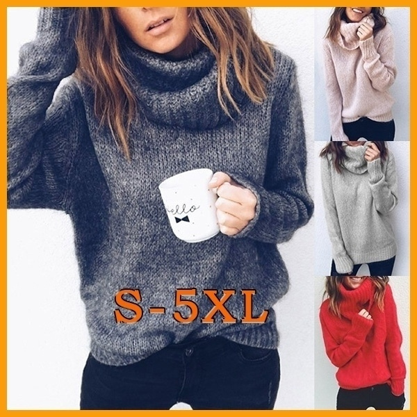 New Fashion Soild Color Turtleneck Neck Sweaters Women Jumper Mohair Sweater Winter Clothes For Women Winter Clothess Weaters For Women