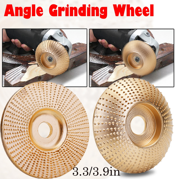 Grinder Shaping Disc Wooden Grinding Wheel Wood Tungsten Carbide Grinding Wheel Sanding Carving Tool Abrasive Disc for Angle Grinder