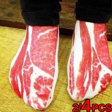 Hosiery & Socks, baconmeat, pork, Cotton Socks