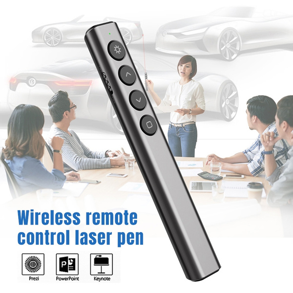Wireless Presenter PowerPoint Presentation Clicker Laser Pointer RF 2 4GHz  USB Remote Control Flip Pen for Windows Android Linux Mac OS