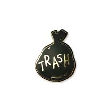 trash, Pins, enamel