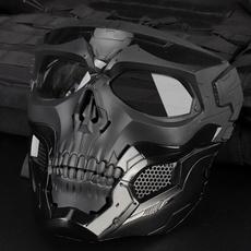 combatfasthelmet, skullmaskmilitary, Bicycle, skull