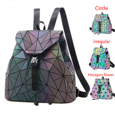 School, Holographic, Laser, women backpack