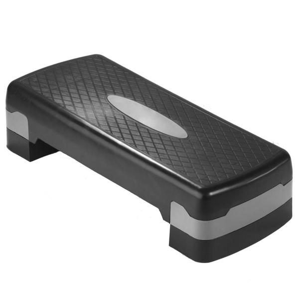 Steppbrett Aerobic Stepper Steppboard höhenverstellbar mit Matte bis 200 kg