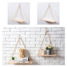 storagerack, hangingrack, Rope, shelfsforwall