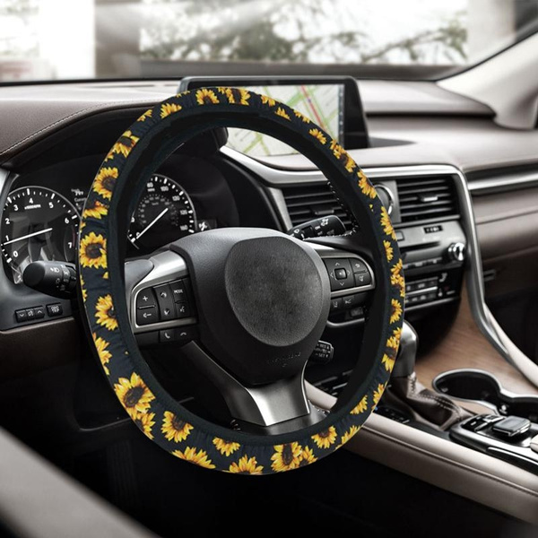 Surprising Xi16 1Pcs Sunflower Steering Wheel Cover Fashion Boho Sunflower Decoration Steering Wheel Cover Comfortable Car Accessories For Women Andrewgaddart Wooden Chair Designs For Living Room Andrewgaddartcom