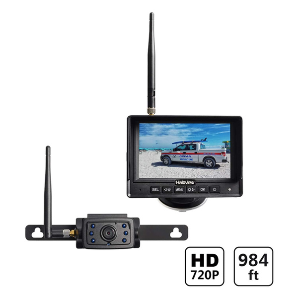 Haloview Mc5111 5 720p Hd Digital Wireless Backup Camera System 5 Lcd Rear View Monitor And Ip69k Waterproof Reversing Built In Dvr Kit For