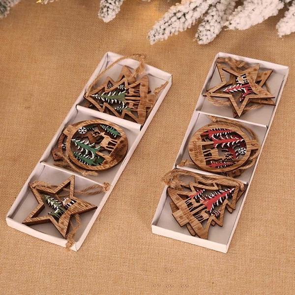 Christmas, Wooden, christmastreehangingornament, Ornament