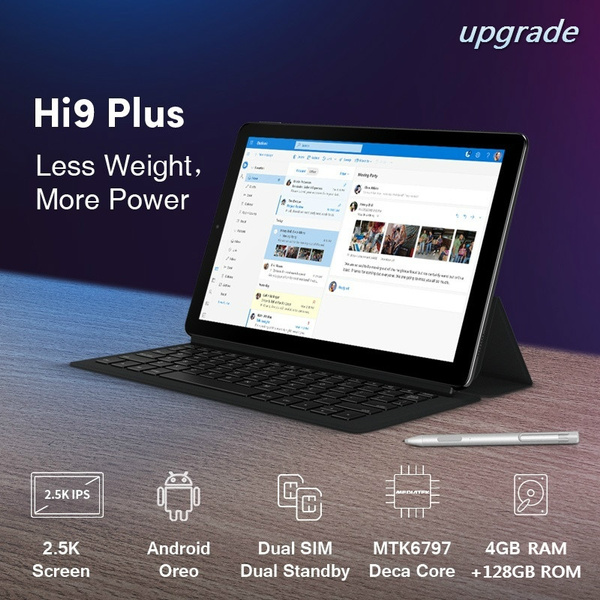 CHUWI Hi9 Plus Upgrade Tablet PC 4GB RAM 128GB ROM With Keyboard Deca Core  Android 8 0 Tablet PC 10 8