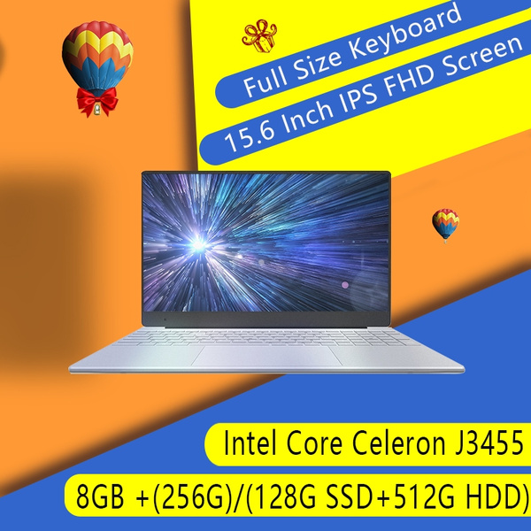 15 6inch 8G RAM Intel Celeron Processor J3455 Quad Core Gen8 GPU Laptop  Full HD Narrow Bezel Full Screen Keyboard Windows 10 Dual-frequency Wifi
