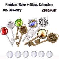 60 Pieces 5 Styles Pendant Trays 30pcs Round /& Square /& Heart /& Teardrop /& Oval and 30pcs Bright Glass Cabochon Dome Tiles for Crafting DIY Jewelry Gift Making