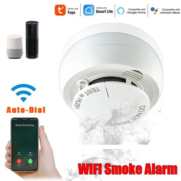 2019 New Wifi Smoke Detector Working With Amazon Google Alexa