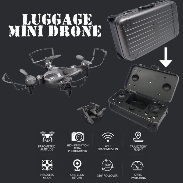 RC Helicopter Mini Folding Drone Quadcopter WiFi Real-time Aerial  Photography Altitude Hold Travelling Case Molding Drone Camera