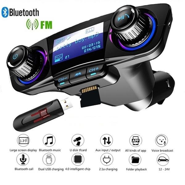 Wireless Bluetooth FM Transmitter Car Dual USB Charger MP3 Player HandsfreeCall