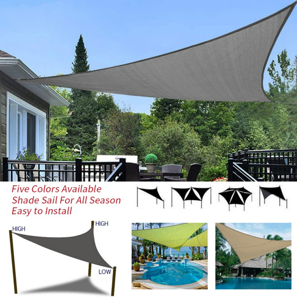 new arrival 253a6 c48d3 Outdoor Sun Shelter 3x3m 4x4m 5x5m Waterproof Triangle Awning Shade Sail  Sun Shade Sail Garden Patio Pool Camping Picnic Tent