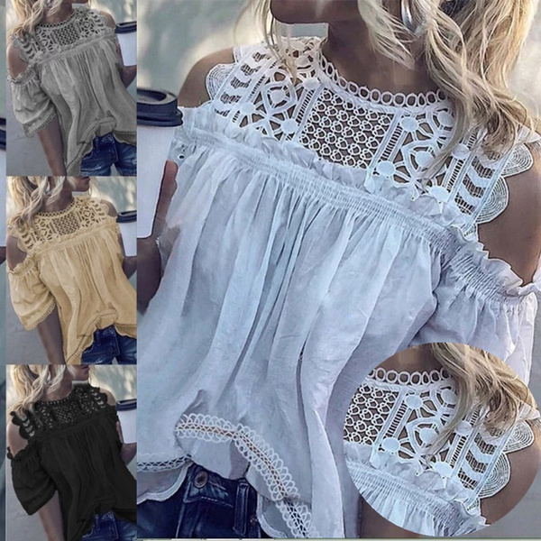 Shoulder, blouse, Shorts, Stitching