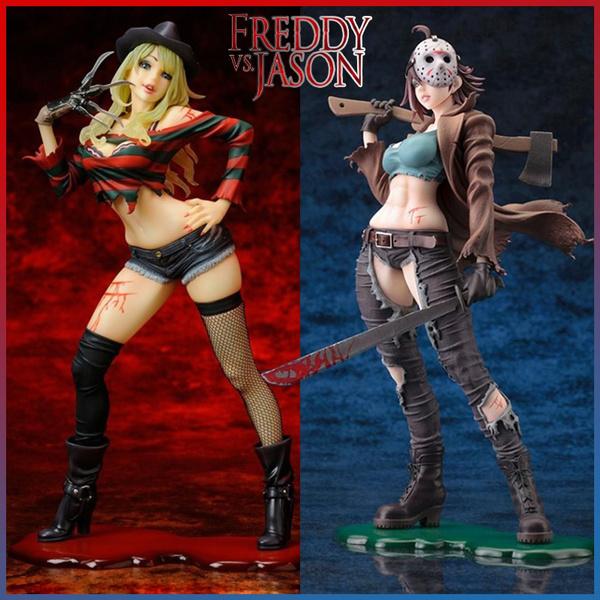 Freddy vs Jason Horreur Bishoujo Jason Voorhees Freddy Krueger Figure New in Box