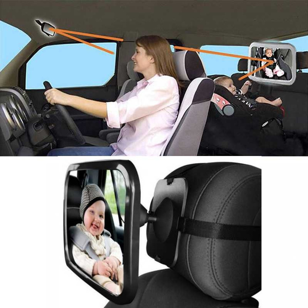 Shatterproof Car Rearview to see Child//Infant in... Baby Back Seat Mirror