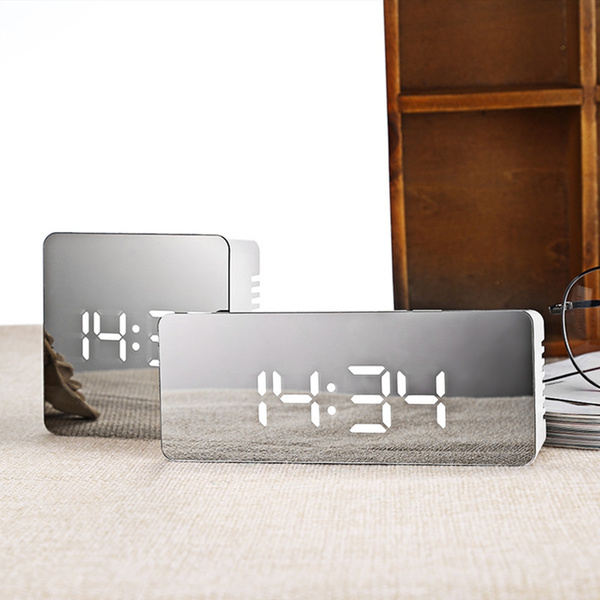 mirroralarmclock, mirrorclock, Office, snoozeclock