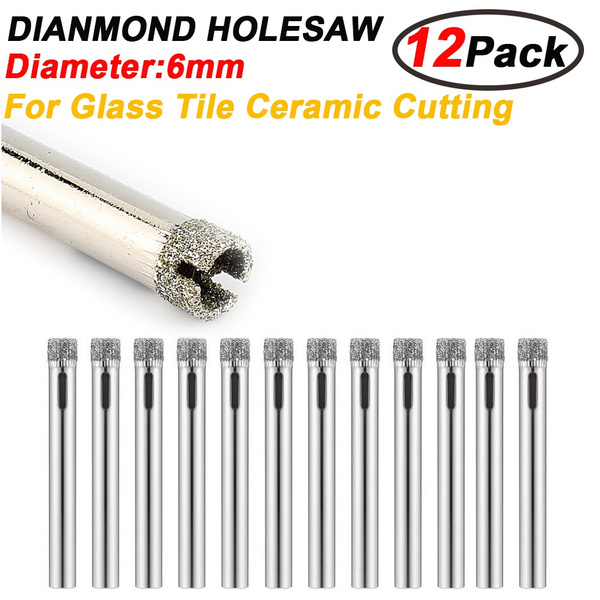 12Pcs 6mm Diamond Holesaw Ceramic Drill Bit Tile Glass Marble Porcelain Cutter
