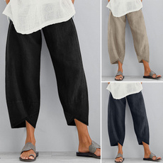 Women Pants, summertrouser, hose, widelegspant