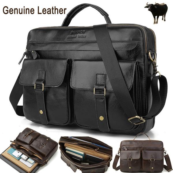 Genuine Leather Bag Men S Briefcase