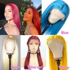 wig, Women, human hair, Straight Hair