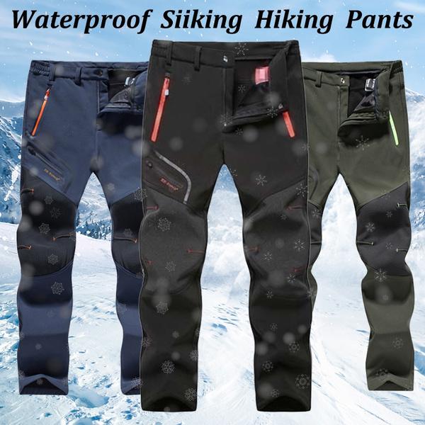 Men Winter Outdoor Hiking Climbing Combat Trousers Tactical Pants Plus Size
