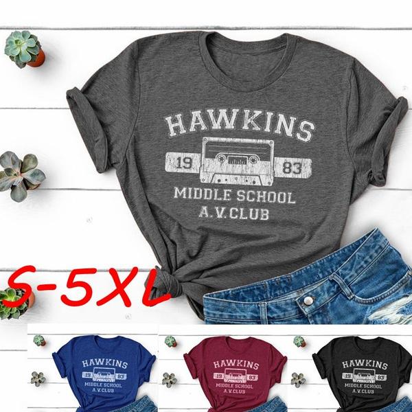 School, Fashion, Cotton Shirt, hawkinsavclub