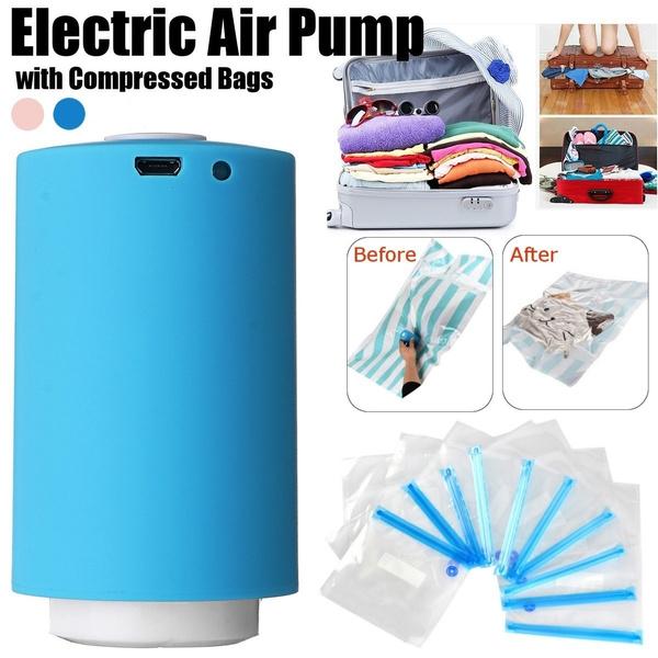 Portable Mini Household USB Electric Automatic Air Compression Vacuum Pump Kit