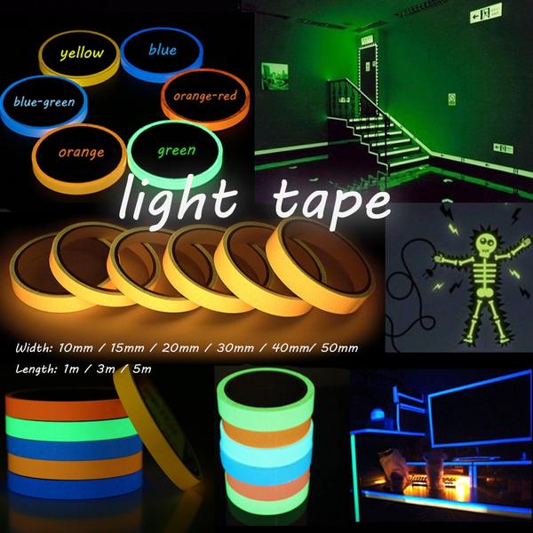 Dark, luminoustape, warningtape, Wall