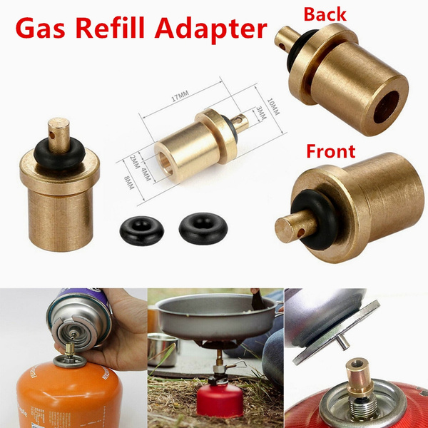 Gas refill adapter outdoor camping stove cylinder filling butane canister DS