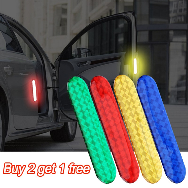 1 Pair Safety Mark Reflective Strips Warning Tape Car Reflective Decal Stickers
