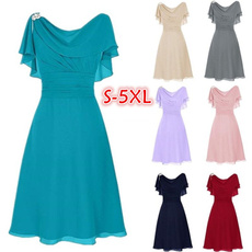 Summer, short sleeve dress, ruffle, gowns