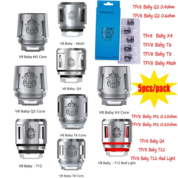 Replacement Coils Head Tfv8 Baby Coil V8 Baby Q2 M2 Q4 Mesh T6 T8 For Tfv8 Baby Big Baby Baby Prince Tank Wish