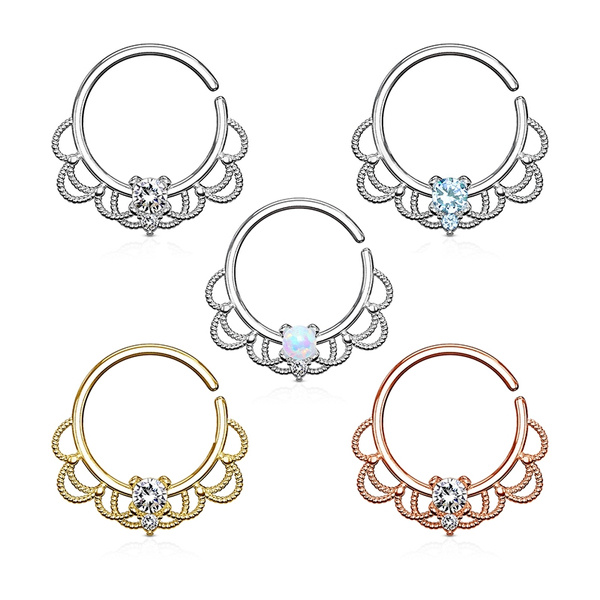 Bohemian Nose Ring Hoops 16g Septum Ring Daith Earrings Piercing