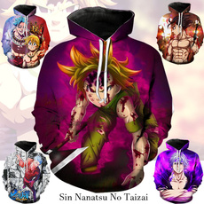thesevendeadlysin, Men's Hoodies & Sweatshirts, Fashion, cartoonhoodiesweatshirt