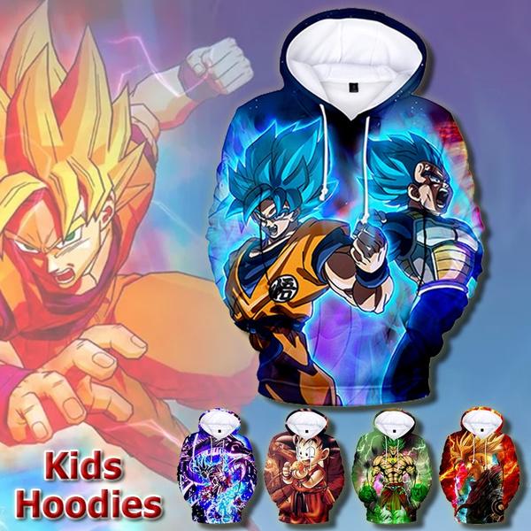 Dragon Ball Z Hoodie Sweatshirt Cartoon 3D Kids Boys Girls Pullover Jumper Top