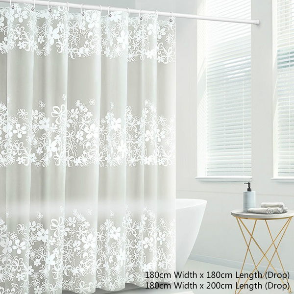 Transpa Fl Shower Curtain Peva