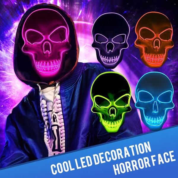 led, ledskeletonmask, Masks, ledskullmask