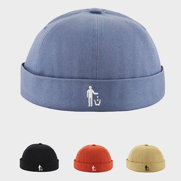 Fashion Men Women Brimless Hip Hop Cap Solid Color Beanie Hat Skullcap Dome Cap